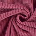 Tissu Velours cotelé grosses côtes Vieux Rose