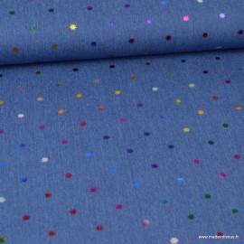 Tissu Jean Denim Oeko tex motifs étoiles