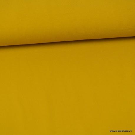 Tissu JERSEY coton élasthanne Ocre x1m