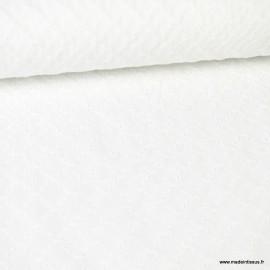 Tissu broderies anglaise coton blanc motifs Losanges