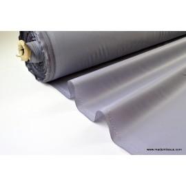 Tissu leger imperméable étanche polyester enduit acrylique gris