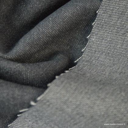 Tissu jean denim Lavé Gris clair