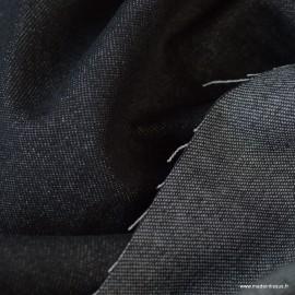 Tissu jean denim Lavé Noir