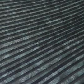 Tissu Plissé bleu à motifs