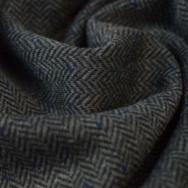 Tissu Jersey milano aspect lainage motifs chevrons gris