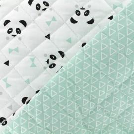 Tissu Matelassé coton double face thème Maony/Nasua