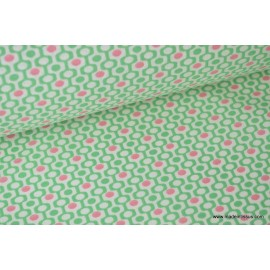 tissu popeline coton imprimé oxo CARAIBES x 50cm