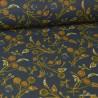 Tissu coton imprimé fleurs Nancy Anthracite - Oeko tex