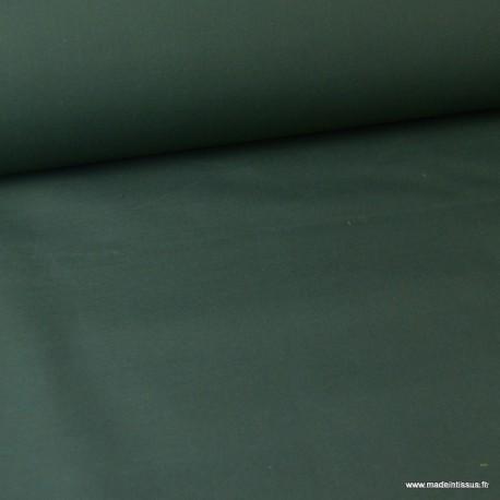 Tissu Gabardine enduite étanche kaki.