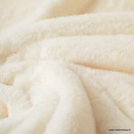 Tissu fausse fourrure Rabbit Ecru