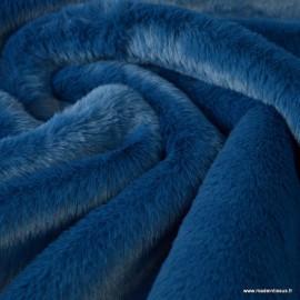 Tissu fausse fourrure Rabbit Bleu nuit