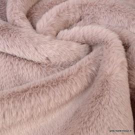 Tissu fausse fourrure Rabbit Rose