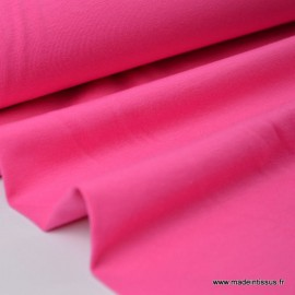 Tissu JERSEY coton élasthanne fuchsia x1m
