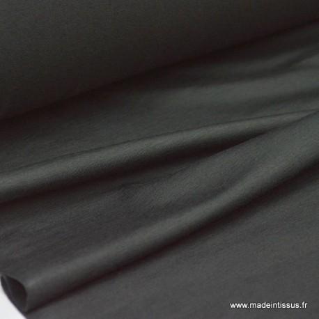 Jersey coton elasthanne noir en 160cm