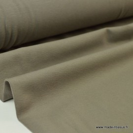 Tissu JERSEY coton élasthanne taupe x1m