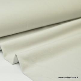 Tissu JERSEY coton élasthanne perle - Oeko tex