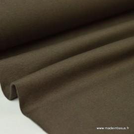 Tissu JERSEY coton élasthanne choco x1m