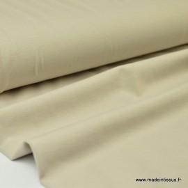 Tissu JERSEY coton élasthanne beige x1m
