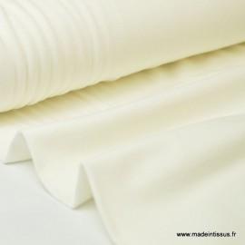 Tissu JERSEY coton élasthanne ivoire x1m