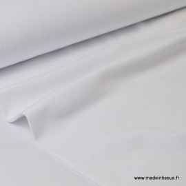 Tissu JERSEY coton élasthanne blanc  x1m