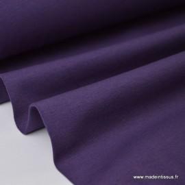 Tissu JERSEY coton élasthanne violet x1m