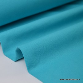 Tissu JERSEY coton élasthanne turquoise  x1m