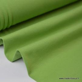 Tissu JERSEY coton élasthanne tilleul x1m