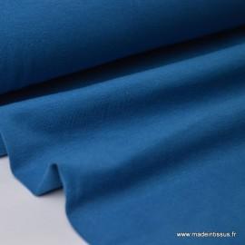 Tissu JERSEY coton élasthanne pétrole