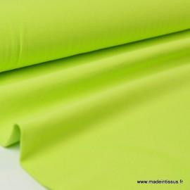 Tissu JERSEY coton élasthanne anis x1m