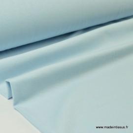 Tissu JERSEY coton élasthanne ciel