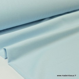 Tissu JERSEY coton élasthanne ciel x1m