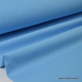 Tissu JERSEY coton elasthanne bleu