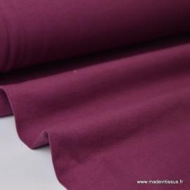 Tissu JERSEY coton élasthanne bordeaux x1m