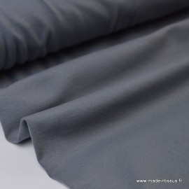 Tissu JERSEY coton élasthanne gris x1m