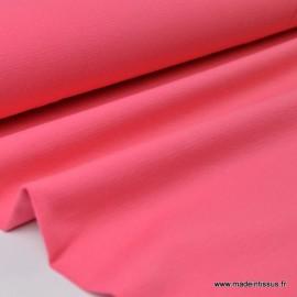 Tissu JERSEY coton élasthanne fraise x1m