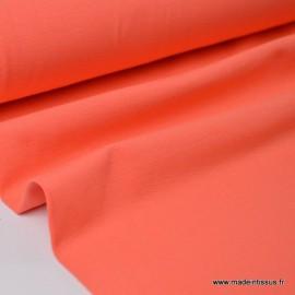 Tissu JERSEY coton élasthanne corail x1m