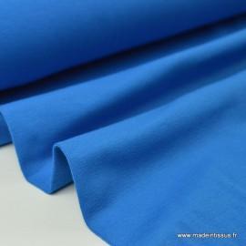 Tissu JERSEY coton elasthanne azur