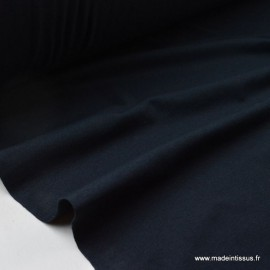 Tissu JERSEY coton élasthanne marine foncé