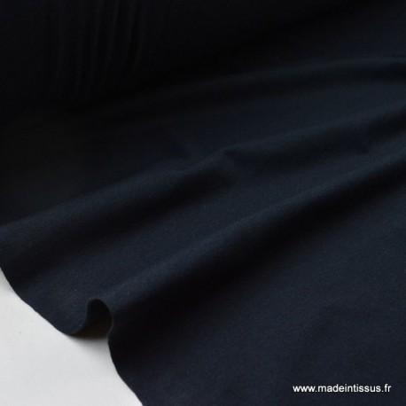 Jersey coton elasthanne marine en 160cm