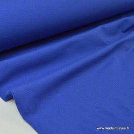 Tissu JERSEY coton élasthanne royal x1m