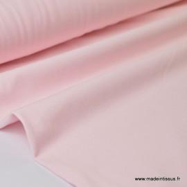 Tissu JERSEY coton élasthanne rose x1m