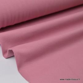 Tissu JERSEY coton élasthanne vieux rose