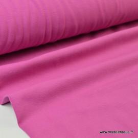 Tissu JERSEY coton élasthanne framboise