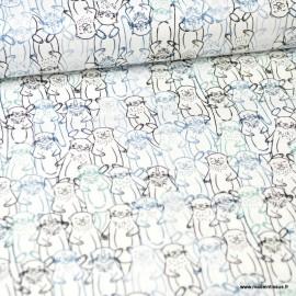 Tissu coton motifs Loutres -  Art Gallery Fabrics .x1m