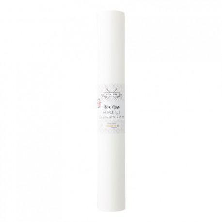 Flex Thermocollant - coupon 50 x 25 cm - BLANC