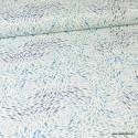 Tissu popeline coton Banc de Poissons fond blanc -  Art Gallery Fabrics