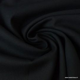 Tissu demi natté coton noir