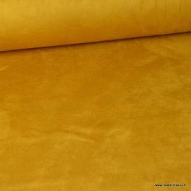 Tissu suédine ameublement habillement moutarde.