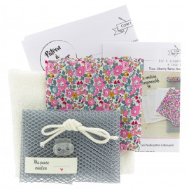 Kit lingettes Liberty et Sac filet - Betsy
