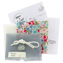 Kit lingettes Liberty et Sac filet - Poppy and Daisy